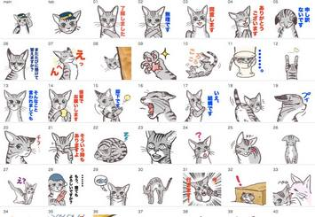 LINEスタンプ「すこしばかり丁寧に話す猫と、その表情」